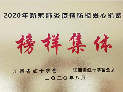 """江铜集团获评""""2020年新冠肺炎疫情防控爱心捐赠榜样集体"""""""